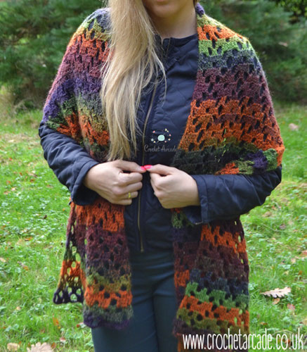 Crochet Pattern Autumn Scarf