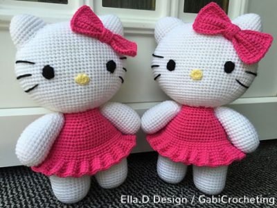 Crochet Pattern Big Hello Kitty