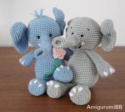 Crochet Pattern Ella the Elephant