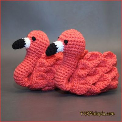 Crochet Pattern Flamingo Baby Booties