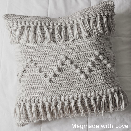 Crochet Pattern Funky Fringe Pillow
