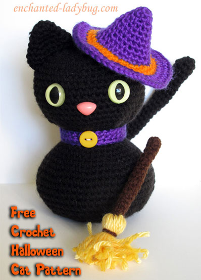 Crochet Pattern Halloween Cat