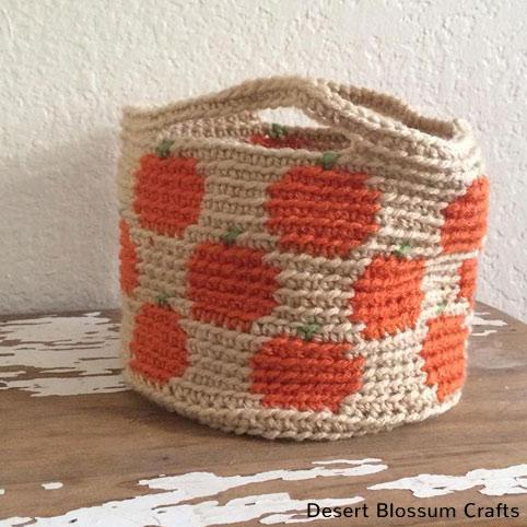 Crochet Pattern Pumpkin Basket