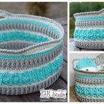 Crochet Pattern Sea Glass Basket