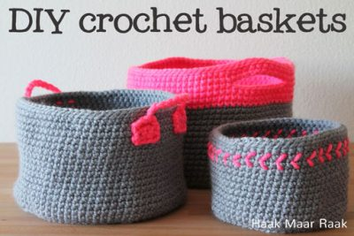 Pattern Neon Baskets