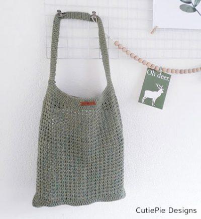 Pattern Raw Linen Shopper