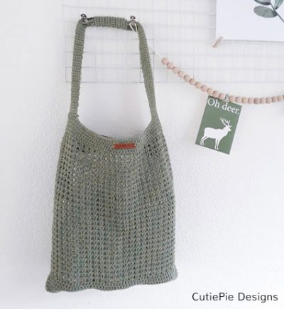 Pattern Raw Linen Shopper