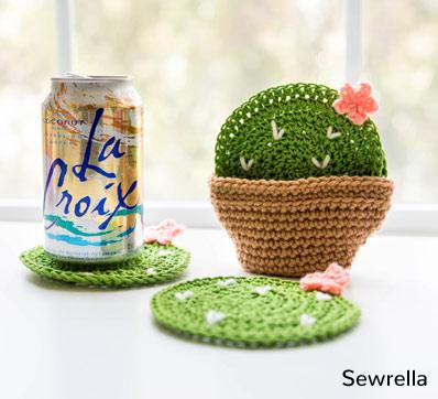 Pattern Cactus Coasters