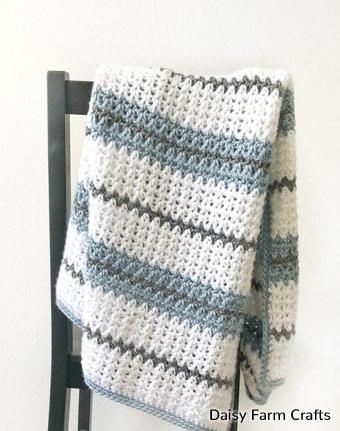 Pattern V-Stitch Blanket