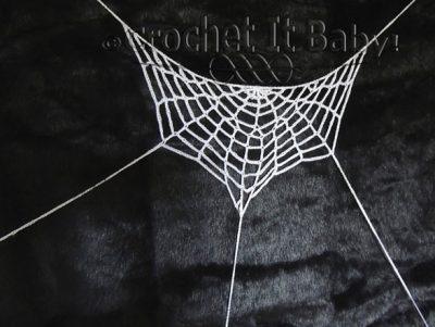Crochet Pattern Halloween Spiderweb