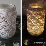 Free Crochet Pattern Jar Cover