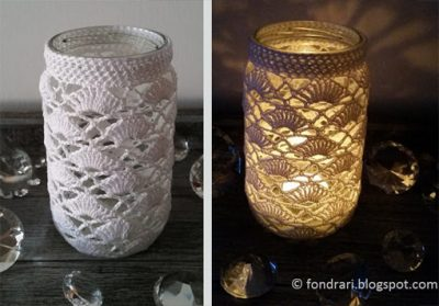 Free Crochet Pattern Jar Cover