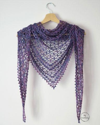 Crochet Pattern Nightfall Shawl