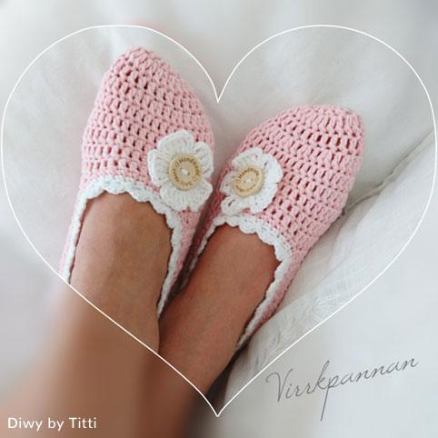 Crochet Pattern Pink Slippers