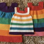Crochet Pattern Rainbow Dress age 2 - 8 years