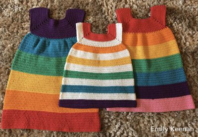 Crochet Pattern Rainbow Dress