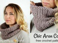 Crochet Pattern Chic Aran Cowl