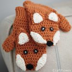 Free Crochet Pattern Children's Fox Mittens