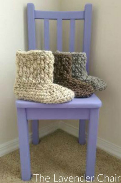 Free crochet pattern chunky slipper