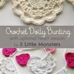 Free Crochet Pattern Doily Bunting