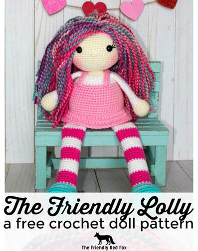 Free Crochet Pattern Doll Lolly