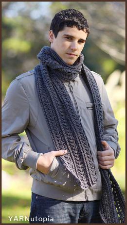Free Crochet Pattern Gentlemen's Scarf