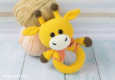 Free Crochet Pattern Giraffe Rattle