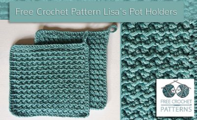 Free Crochet Pattern Lisa's Pot Holders