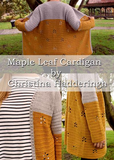 Free Crochet Patterns Free Crochet Pattern Maple Leaf Cardigan
