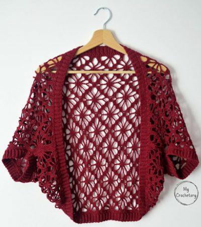 Free Crochet Pattern MeadowLace Shrug