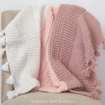 Free Crochet Pattern Ombre Textured Blanket