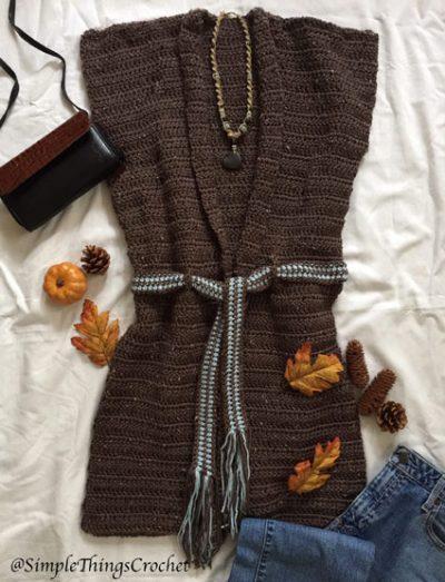 Free Crochet Pattern Casual Vest