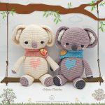 Crochet Pattern Koala Gina and Dante