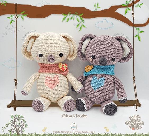 Amigurumi Koala Bear (in 3 sizes) Crochet Pattern PDF | Crochet ... | 516x564