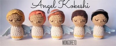Free Crochet Pattern Angel Kokeshi
