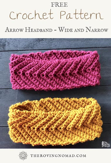 Free Crochet Pattern Arrow Headband