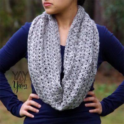 Free Crochet Pattern Boundless Cowl Scarf