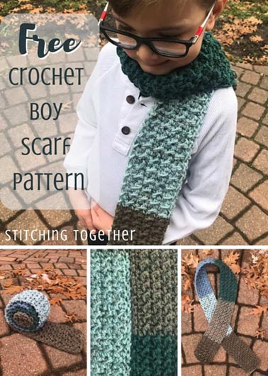 Free Crochet Pattern Boy Scarf