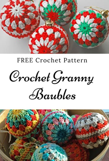 Free Crochet Pattern Christmas Baubles