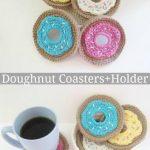 Free Crochet Pattern Doughnut Coasters