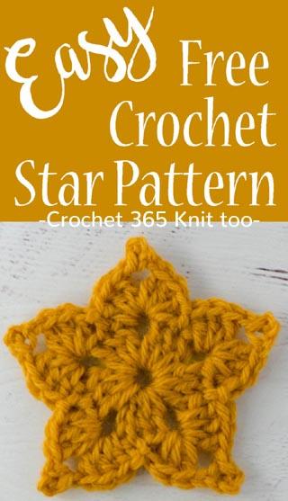 Free Crochet Pattern Easy Star
