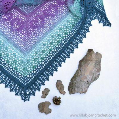 Free Crochet Pattern Grinda Shawl