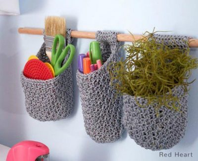 Free Crochet Pattern Hanging Baskets