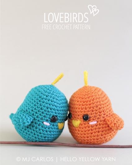 Free Crochet Pattern Lovebirds