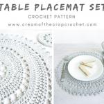 Free Crochet Pattern Placemat Set