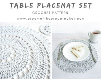 Free Crochet Pattern Placemat Set