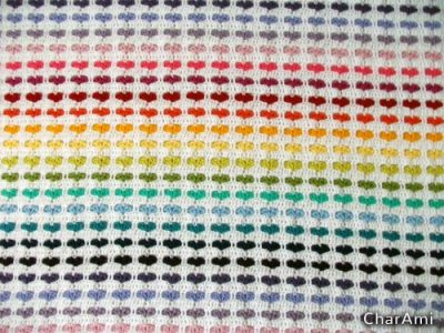 Free Crochet Pattern Rainbow Hearts Blanket