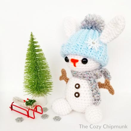 Free Crochet Pattern Snow Bunny