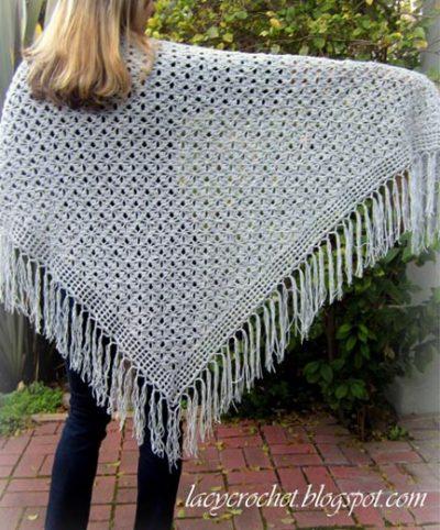 Free Crochet Pattern Spider Stitch Shawl