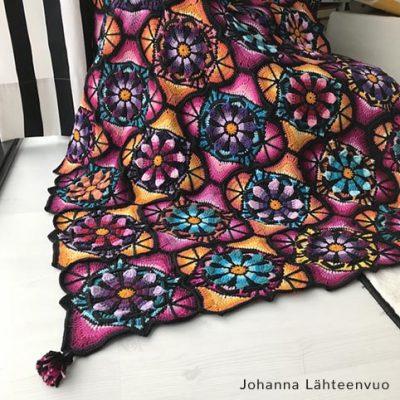Free Crochet Pattern Stained Glass Blanket